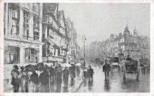 LONDON UK STAPLE INN~CHARCOAL SKETCH~F HOPKINSON SMITH~ART INSTITUTE POSTCARD
