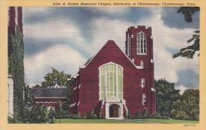 John A Patten Memorial Chapel University Of Chattanooga Tennessee