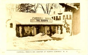 NH - North Conway. Carroll Reed Ski Shop, 1940's  RPPC   *VERY RARE FIND*