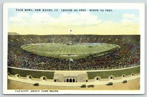 New Haven CT~Game Day~Sideline View of Yale Bowl~1920s~Seats 70.000 All Filled