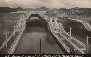 RP: General view of Miraflores Locks , Panama Canal , 1910s