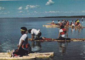 Indian ceremony on water , N.W.T. , Canada , 60-70s