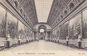 France Versailles La Galerie des Betailles Palais de Versailles