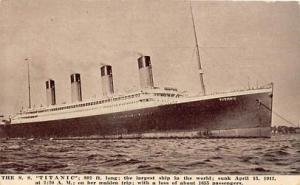White Star Line Steamer Titanic Ship Ships Postcard Postcards Titanic Ship Po...