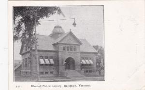 RANDOLPH, Vermont; Kimball Public Library, 00-10s