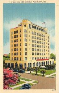 Panama City Florida 1940-50s Postcard Hotel Dixie Sherman