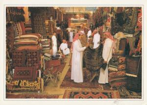 Saudi Arabia Carpet Souq Al Diraj Rug Traders Riyadh Large Postcard
