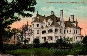 New York Middletown Residence Of Webb Horton 1911