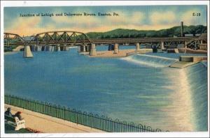 Junction Lehigh & Delaware Rivers, Easton PA