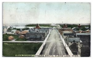 1910 Main Street looking South, Elbow Lake, MN Postcard