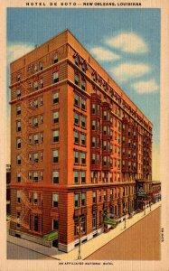 Louisiana New Orleans Hotel De Soto Curteich