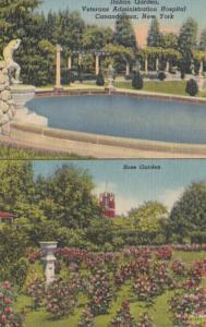 New York Canandaigua Veterans Administration Hospital Italian Garden and Rose...