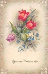 Heureux Anniversaire! Happy Anniversary! Tulips, Flowers, Fleurs