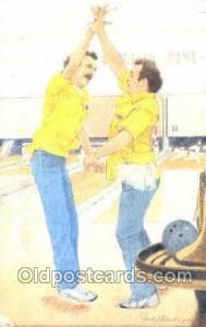 Bowling Old Vintage Antique Postcard Post Cards