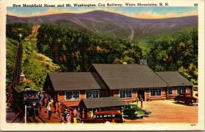 NEW MARSHFIELD HOUSE & MT. WASH. COG RAILWAY, WHITE MTS., NH POSTED