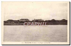 Old Postcard Steam Bagnard Ile de re The prison seen from the sea