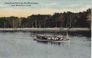 Boat,launching party on the Mississippi,near Muscatine,Iowa,00-10s