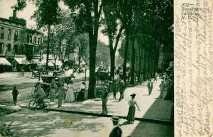 NY - Saratoga. Broadway circa 1900