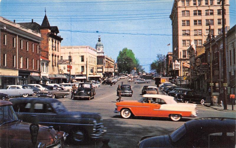 Athens Georgia~College Street~Cafeteria~City Hall~Nice 1950s Cars~Convertible