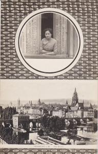Woman Looking Outside Her Window, Alte Brucke, FRANKFURT A. MAIN (Hesse), 20-40s