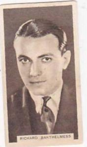 Abdulla Vintage Cigarette Card Cinema Stars Brown Back No 4 Richard Barthelme...