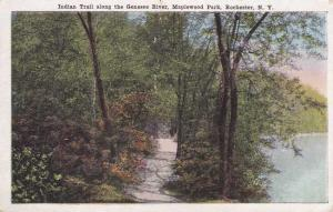 Maplewood Park Indian Trail along Genesee River Rochester New York pm 1920 - WB