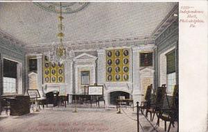 Pennsylvania Philadelphia Independence Hall Room In Which The Declaration Of ...