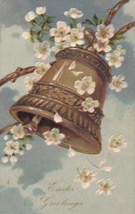 EASTER; Greetings,  Ringing Bell, White Flowers, 00-10s