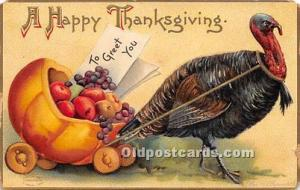 Thanksgiving Greetings Postcard Artist Ellen Clapsaddle