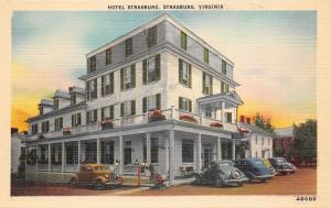 Strasburg Virginia~Mrs Robinson's Hotel~Home Cooking~Folks on Porch~1930s Cars