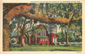 Biloxi Mississippi~The Ring In The Oak And The Church Of The Redeemer~1941 PC
