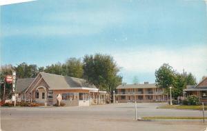 Fremont Nebraska~Lary Murphy Erin Swiss Motel~1960s Biesendorfer Studio Postcard
