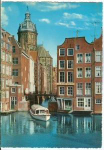 Netherlands, Old-Amsterdam, The little lock, 1960s unused Postcard