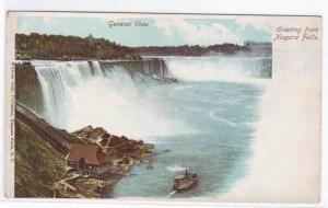 Greetings from Niagara Falls NY PMC 1900c postcard