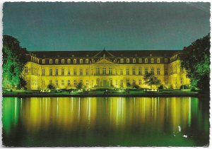 Stuttgart Germany. Neues Schloss.   Used with stamp