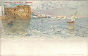 Pompei Italy Hotel Diomede c1900 UDB Postcard EXC COND Richter & Co