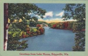 Wisconsin Briggsville Greetings From Lake Mason 1968