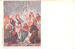 Poland Old Vintage Antique Post Card Religious Unused