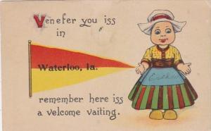 Iowa Waterloo Dutch Girl 1916 Pennant Series