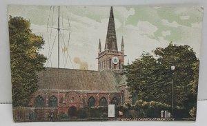 St Nicholas Church Great Yarmouth UK Vintage Postcard