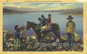 Apache Family Indian Unused paper wear right right top corner