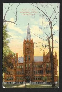 Recitation Hall Wittenberg College Springfield OH Used c1910