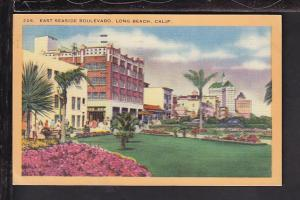 East Side Boulevard,Long Beach,CA Postcard