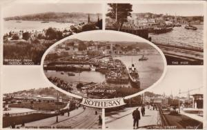 RP: Rothesay , Isle of Man , 5-view postcard , PU-1932