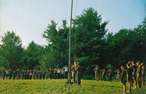 Boy Scout Flag Ceremony at Camp 12 Pines - Lake Coan NY, New York