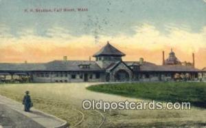 RR Station, Fall River, MA, Massachusetts, USA Depot Postcard, Railroad Post ...