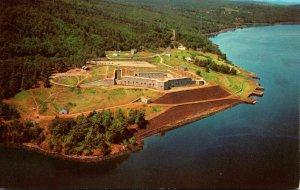 Maine Bucksport Aerial View Historic Fort Knox