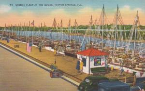 Florida Tarpon Springs The Sponge Fleet At The Docks