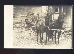 RPPC SMITHTON MISSOURI MO. HORSE DRAWN WAGON RED HORSE REAL PHOTO POSTCARD