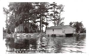 Summer Home of Mr and Mrs Victor Anderson of Rochester Chippewa Bay NY Postal...